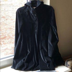 Velvet hooded Alice + Olivia peplum coat